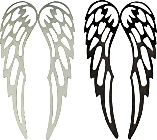 Mayrich Bronze and White Metal Art Angel Wings Wall Sculptures Set of 2