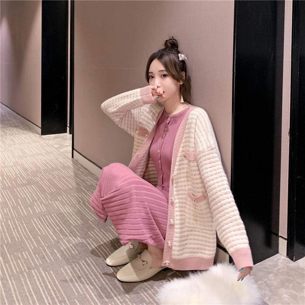 LIYDENG Ladies Long Dedication Sleeves Knitted Knit Jacket Women's Loose Op Award