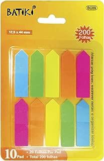 Batiki BC09, Bloco Marcador Pagina Adesivo com 200Folhas, Multicolor