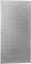 Wall Control Pegboard 32in x 16in Galvanized Metal Pegboard Tool Board Panel