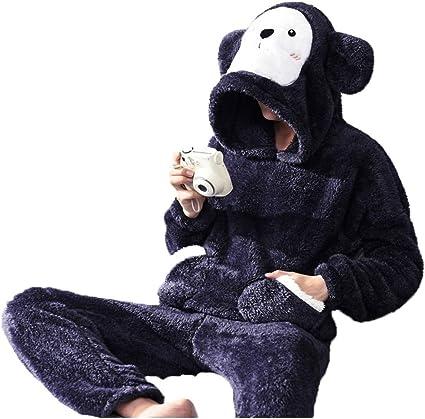 Pijama Hombres Oso De Dibujos Animados Imagen Espesantes ...