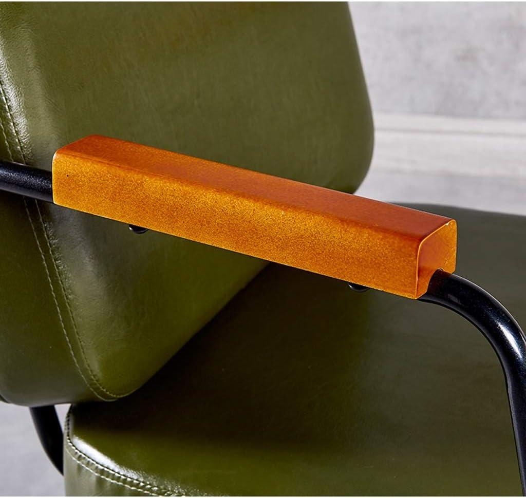 HXF- Chaise de salle à manger, chaise de bureau simple, dossier créatif, chaise de loisirs, chaise de salle à manger pour adulte durable (couleur : gris) Vert