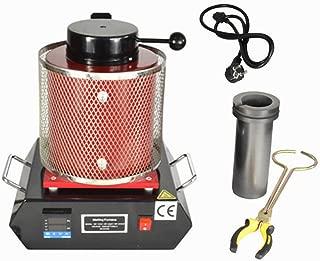 Melting Furnace TBVECHI 3KG Automatic Melting Furnace Kiln Digital Control 2102 Fahrenheit Bronze 110V Gold Silver Smelter Melter