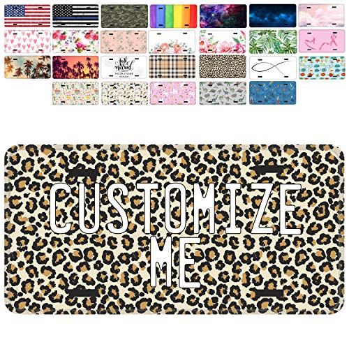 Brd Gifts Custom License Plate for Car - Personalized License Plate for Kids Cars | 26 Patterns, 6x3 12x6 Aluminum Novelty License Plates - Add Your Text