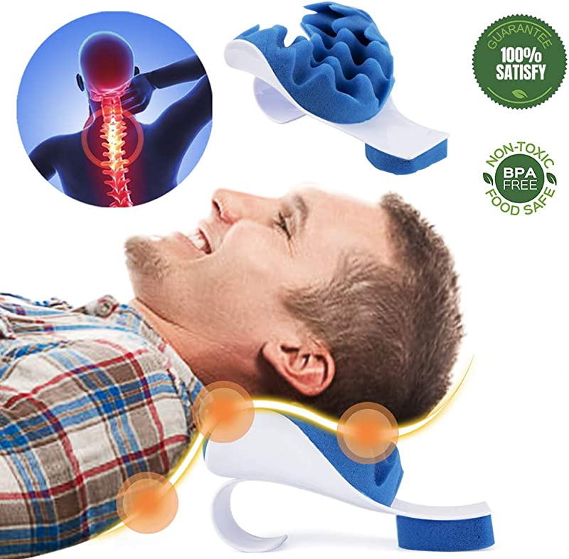 Chilling Home Chiropractic Pillow Neck And Shoulder Relaxer Cervical Pillow Neck Traction Device For Pain Relief Management And Cervical Spine Alignment