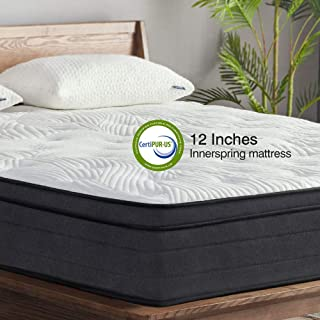 Sweetnight King Mattress in a Box - 12 Inch Plush Pillow Top Hybrid Mattress, Gel Memory Foam for Sleep Cool, Motion Isola...