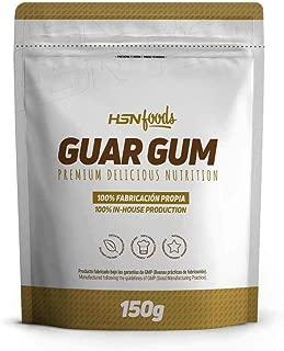 Goma Guar de HSN Foods - Espesante Natural y Saludable para Recetas – Fuente de Fibra, Saciante - Sin Gluten, Sin Lactosa, Apto Veganos, En Polvo - 150g
