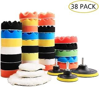 Benavvy 38pcs Polishing Pad Kit, 2 in 1 Car Foam Drill,7-5
