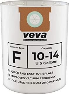 VEVA 15 Pack Premium Vacuum Filter Bags Type F 9066200 Work with Shop Vac 10-14 Gallon Vacuum, Part # SV Shopvac Shop-Vac 90662
