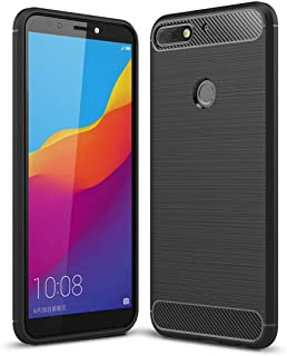 Repair tools,Completely fit and work For Huawei Honor Play 7C Brushed Texture Carbon Fiber Shockproof TPU Protective Back ...