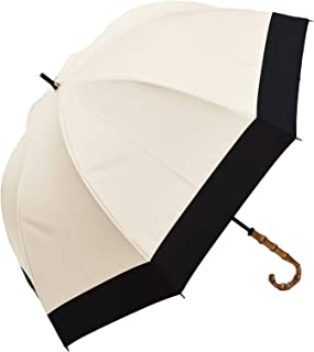 100%完全遮光 99%ではダメなんです! 【Rose Blanc】 日傘 晴雨兼用 UVカット 1級遮光 撥水 ブランド おしゃれ レディース かわいい 母の日 ラージサイズ 60cm コンビ 6cb