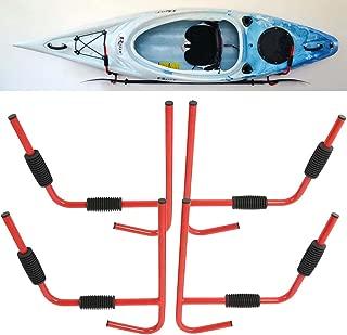 Tengchang Wall Mount Kayak Storage Hanging Rack Canoe Folding Ladder Heavy Duty Steel Holder