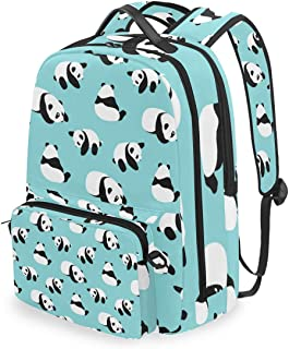 SLHFPX Women/Men Backpack Cute Panda Bookbag College School Shoulder Bag Daypack Travel Rucksack for Youth