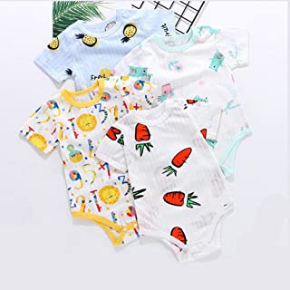 RONSHIN Baby Round Collar Cute Pattern Cotton Jumpsuits for Boys Girls Random Color 66cm Recommended 0-6 Months