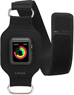 Camyse for Apple Watch Armband, Adjustable Reflective Bands for Running, Workouts or Any Fitness Activity, Sport Exercise Arm Band for Apple Watch Series 3, Series 2, Series 1