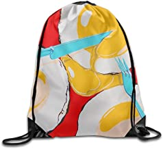 Schnauzer Silhouette Lightweight Drawstring Bag Sport Gym Backpack Gym Bag For Men And Women