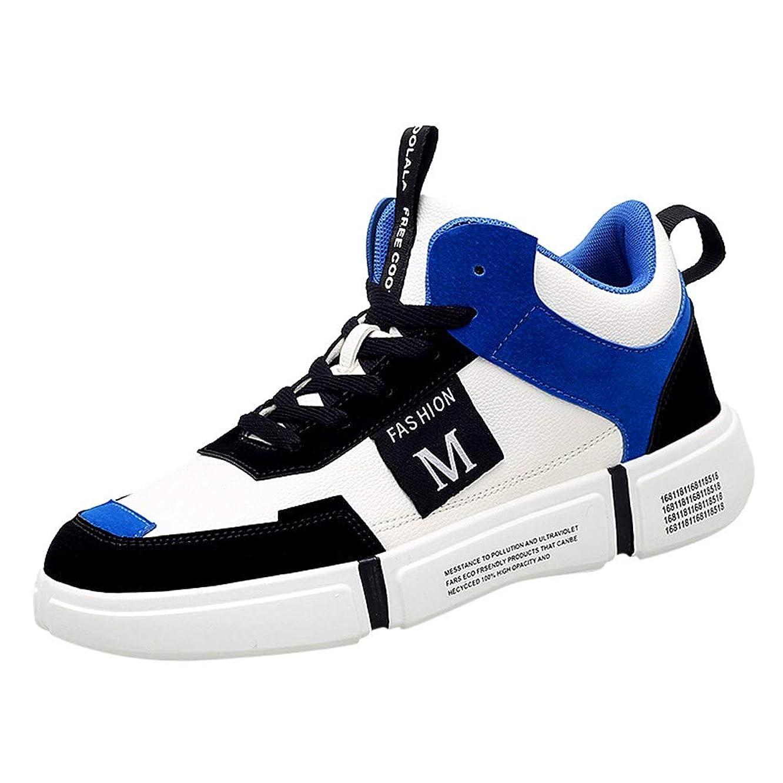 病者悪性の明らか[ Eldori ] スニーカー メンズ レディース 白 カジュアルランニング シューズ 学生 カップル レースアップ 韓流 通気 通学靴 カラフルハイカットスケートボードシューズカジュアルランニングシューズ日常着用スニーカー