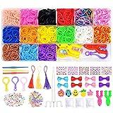 CHOSEN BY LUCK 2900 + Loom Gummibänder-Set, 15 Farben, Gummibänder für Armbandherstellung, mit...