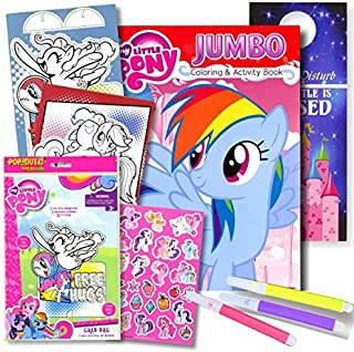 My Little Pony Coloring Book with Take-N-Play Set - 96-page Coloring Book, My Little Pony Stickers, and Markers