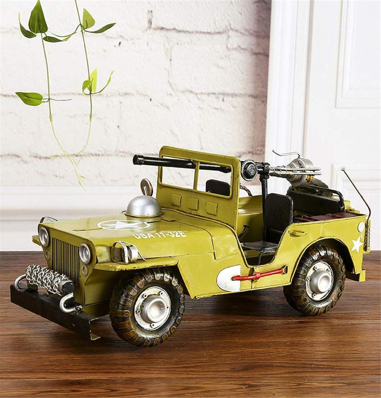 grandes precios de descuento HHXWU Juguetes Juguetes Juguetes Juguetes para Niños Juguetes Modelo de Jeep Modelos de Autos de Hierro Artesanías Creativas Ornamentos, verde 38.5cm  precios bajos