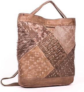 ART N VINTAGE - Women's Olive Green Milano Leather Tote Shopper Handbag