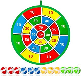 Kids Dart Board Games With 12 Sticky Balls, Safe Classic Darts Board Set,Indoor Outdoor Game Toy For Boys Girls -14.1 Inches