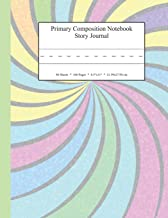 Primary Composition Notebook Story Journal: Educational Writing and Drawing Handwriting Activity Workbook (Pastel Swirl Rainbow Cover)