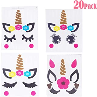Joy Uinan Make A Unicorn Stickers Unicorn Party Favors 20-Pack Fun Craft Project Unicorn Party Supplies for Kid Birthday