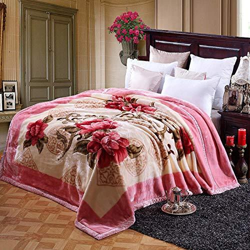 Asbecky Mantas para Sofa Manta de Lana de Franela - Mantas de Cama cálidas, Suaves y acogedoras, para sofá, día de San Valentín, Multiusos-R_200x230cm-3.5kg