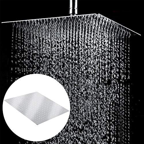 Moderne douchekop/regendouche van roestvrij staal, vaste en zuinige douche, vierkant, 50 x 50 cm