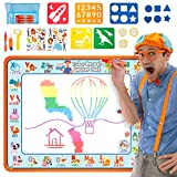 "Creative Kids BlippiWater Doodle Mat Magic Water Drawing Mat with Hidden Colors - Aqua Magic Mat for Boys and Girls – Water Coloring Mat for Kids – 39.5 X 31.5"" - 26 pcs– Ages 2 & Up"