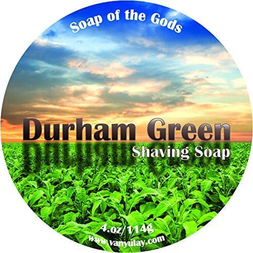 National uniform free shipping Durham Green Natural Shaving Soap Kokum mart with Butters Nourishing