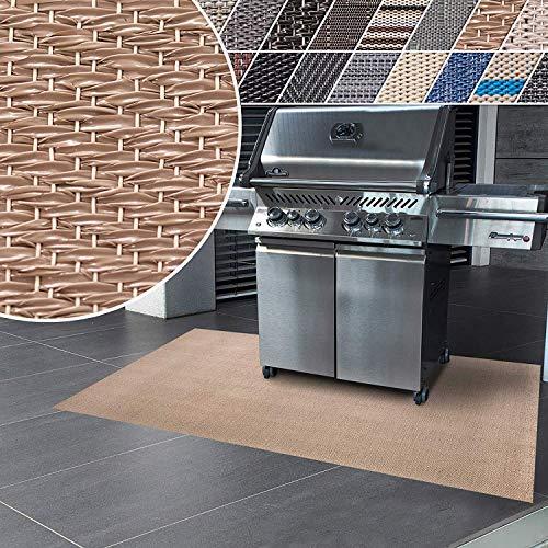 Floordirekt Grillschutzmatte | Schwer entflammbar | 2 Größen | 5 Designs | Grillmatten zum Grillen im Garten | Outdoor Matten für den Grill (90 x 120 cm, Verona)