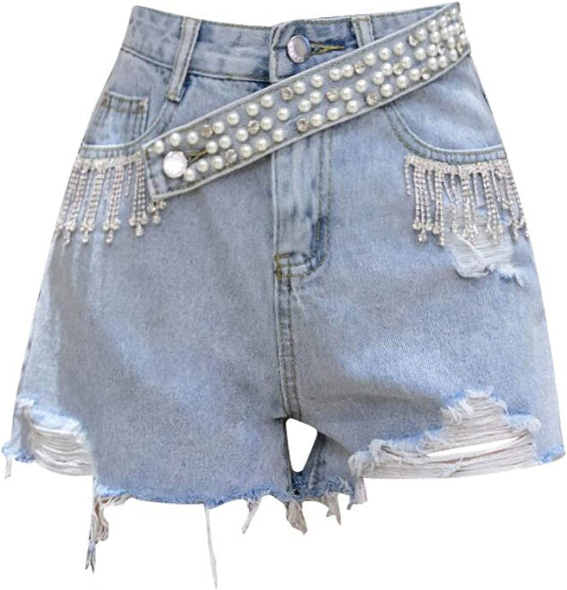 Free Shipping Cheap Bargain Gift Alavo Burr Shorts Women's Beaded Wide-Leg Hot excellence Jeans Pants