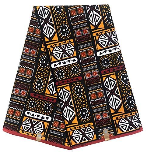 wax African PAGNE Fabric Wax Canvas Iyasoto Gbigba ti a tẹ Kupọọnu 6 Yards 100% Owu Ref AJ