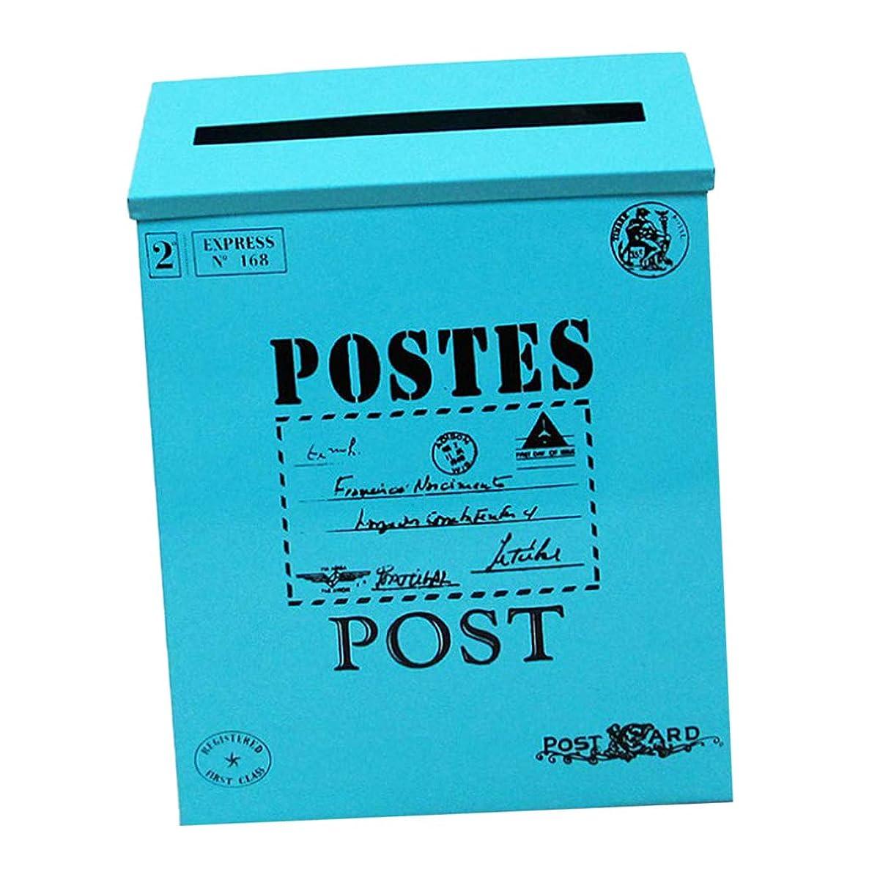 退屈勤勉落ちたレターメールボックス メールボックス ポスト ボックス ビンテージ 雑誌 新聞 防水性 - 青