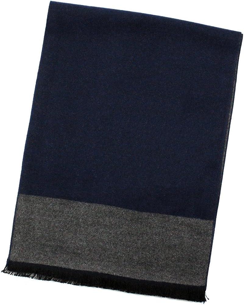 StarGo Warm Cashmere Feel Men Scarf,100% Cotton Fashion Scarves, In Gift Box (Stone Grey Block)