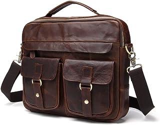 Men's Accessories New Men's Business Messenger Bag Satchel Shoulder Crossbody Sling Working Bag Briefcase Tote Bag for iPad Mini Phone Power Bank Outdoor Recreation (Color : Chocolate Color)