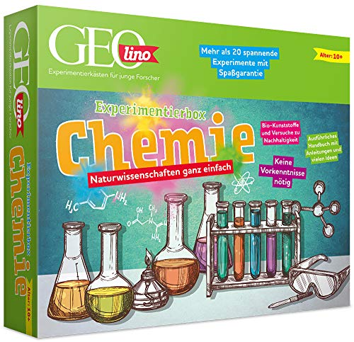 FRANZIS 67128 - GEOLINO Experimentierbox Chemie, Experimentierkasten inkl....