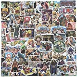 Anime Theme Stickers 125 Pack One Piece Sticker for Laptop, Skateboards, Luggage