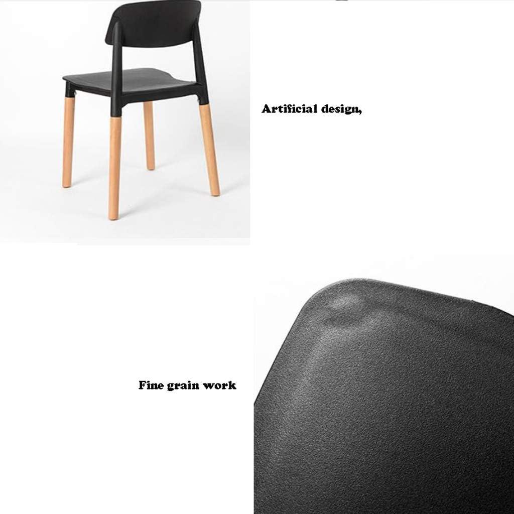 Solide Simple Chaise Bureau étudiant et Chaise de Maquillage Tabouret Retour à la Maison à Manger Chaise d'ordinateur Stable (Color : Black) Yellow
