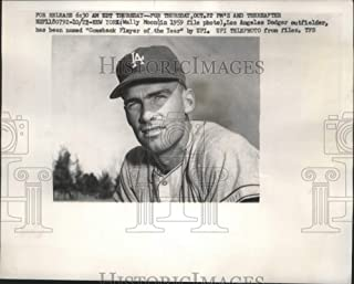Historic Images - 1959 Press Photo Dodgers baseball's Wally Moon, Comeback Player of The Year