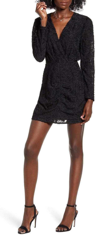 WAYF Rae Ruched Mini Dress