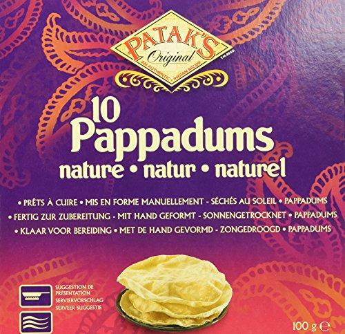 Patak's Pappadums, plain, 12er Pack (12 x 100 g)