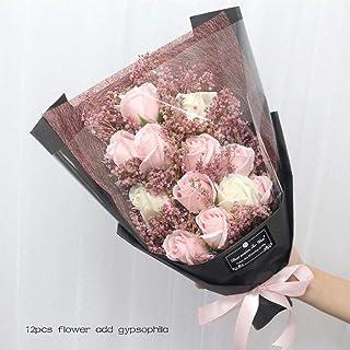 Flores Artificial Jabón Artificial Flor Ramo De Rosas Bolsas De Regalo Regalo De Cumpleaños del Día De San Valentín Boda De Navidad Decoración para El Hogar Flor