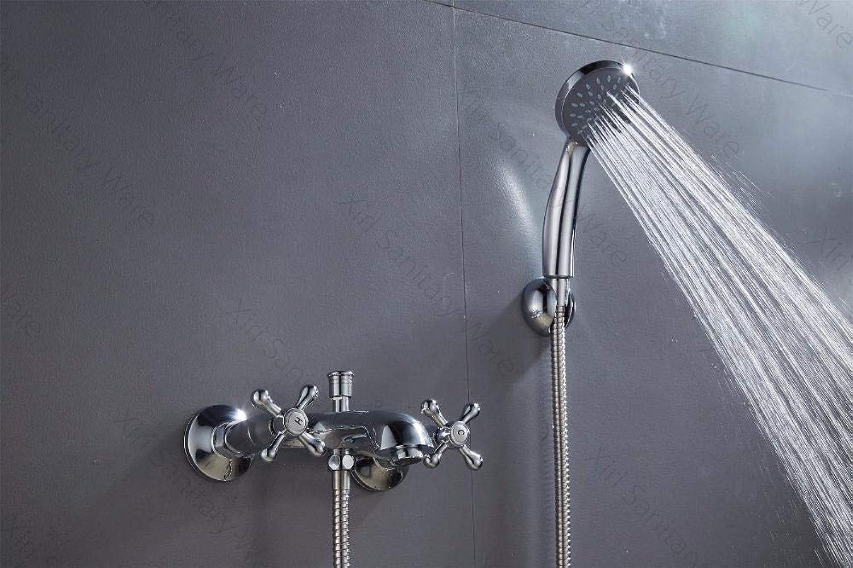 Glattes Haar in Polen Duschset Bad Dusche Wasserhahn Kalt- und Warmwasser Mischbatterie mit Handbrause Einhand