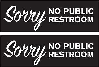 Best no public restroom sign Reviews