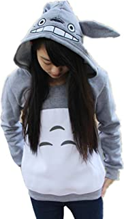 Sorrica Cartoon Anime Totoro Casual Hoody Sweatshirt For Teens