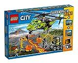 LEGO 66540 Vulcano City - Super Pack 3 en 1 Volcano (60123 Helicóptero de suministros + 60121 Camión de exploración + 60122 Robot de Búsqueda con 8 minifiguras)