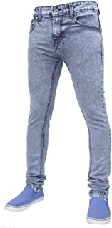 True Face Mens Jeans Skinny Denim Pants Stretch Fit Trouser Zip Fly Elasticated Cotton Bottoms Casual Wear 5 Pockets All W...